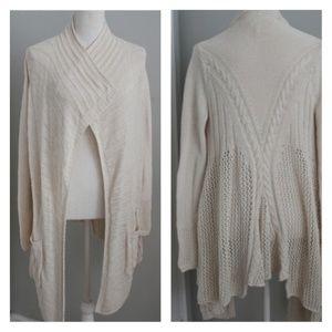 Anthropologie Angel of the North Cream Cardigan